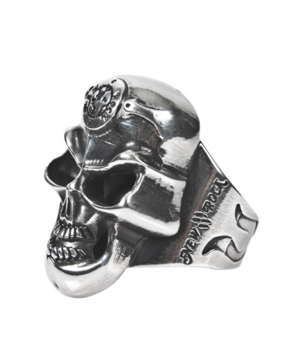 M.SKULLRING-S1 SKULL RING BIG 24mm Diameter. 537002-N GRAN