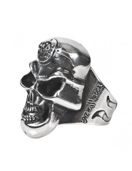 M.SKULLRING-S2 SKULL RING SMALL 20mm Diameter. 53702-N PEQ