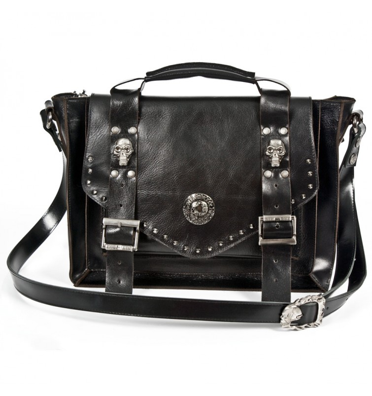 M.BAG030-C1 BLACK LEATHER
